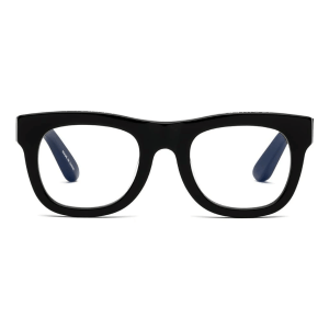 D28 Reading Glasses in Gloss Black product shot front view