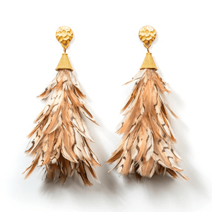 Anna Feather Earrings product shot front view