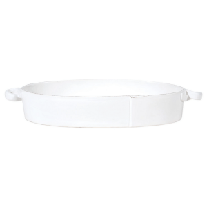 Lastra Handled Oval Baker product shot side view