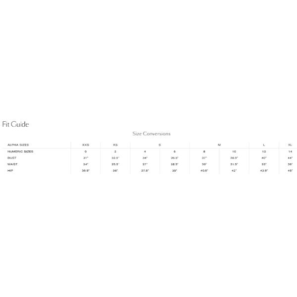 L'agence Size Chart