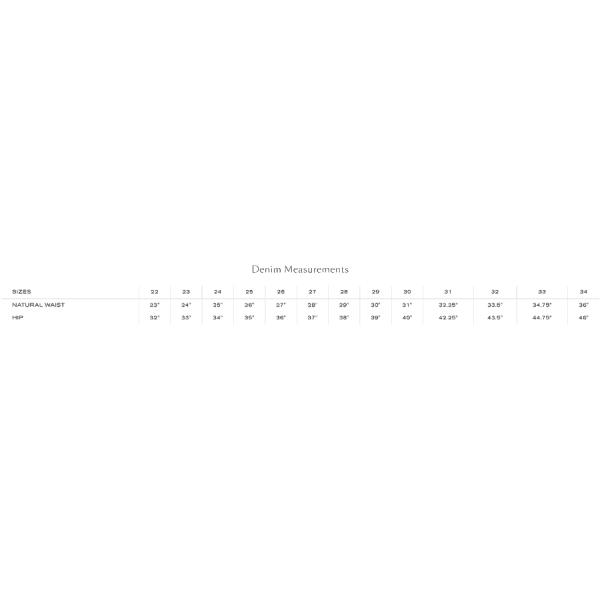 L'agence Pant Size Chart