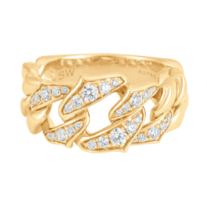 Lucia Graduated Chain Link Ring product shot front view