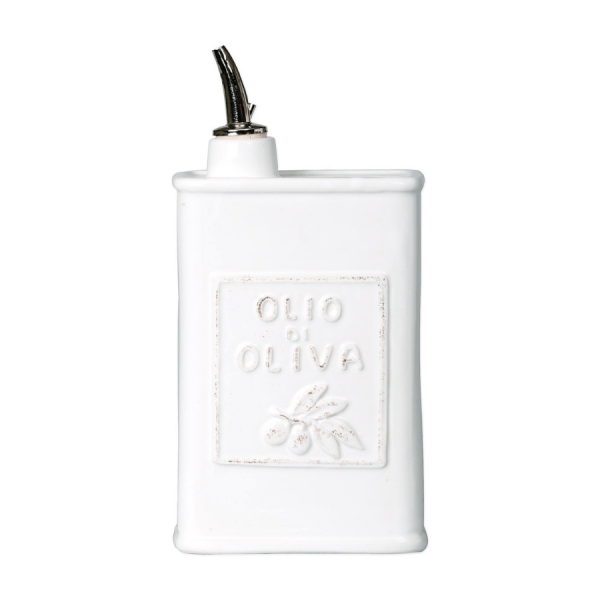White Olive Oil Can product shot front view