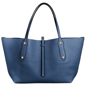 Annabel Ingall Small Isabella Tote in Navy product shot front view