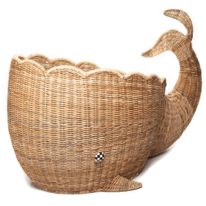 Hand-Woven Whale Basket