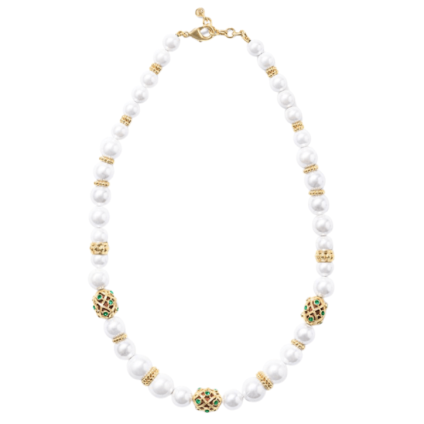 """Elizabetta 18"""" Necklace, Pearl product shot full view"""