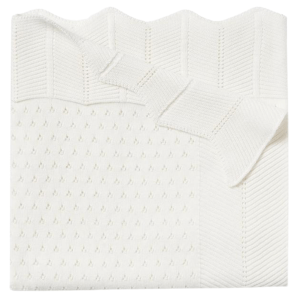 Pointelle Cotton Knit Baby Blanket product shot