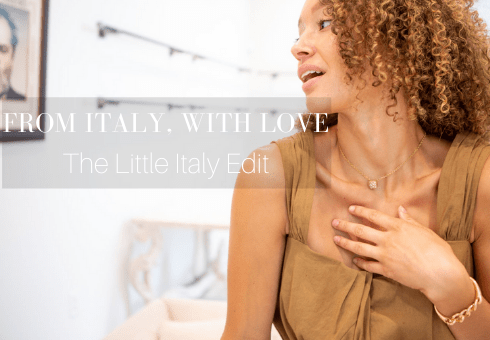 From Italy, With Love Featured Image with text and model in Pomellato