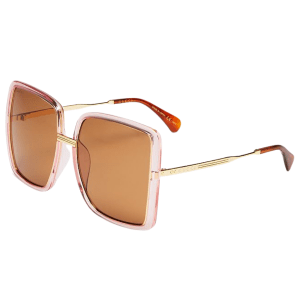 Oversize Pink Square Sunglasses product shot front view