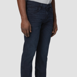 Model Wearing Blake Slim Straight Jean in Vermont side front view