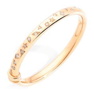 Bracelet Iconica Bangle in Rose Gold with Diamond product shot front view