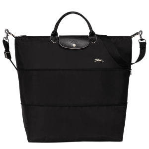 Le Pilage Club Travel Bag in Black product shot front view