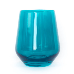 Estelle Teal Stemless product shot front view