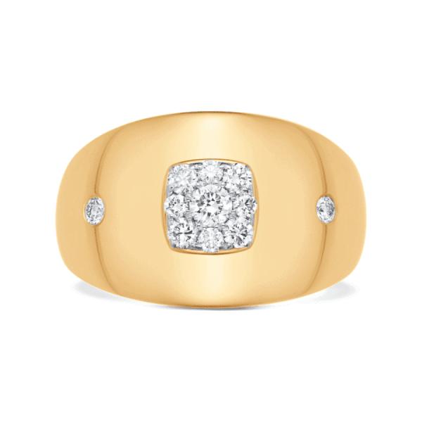 Aurora Yellow Gold and White Diamond Adira Ring – Size 7