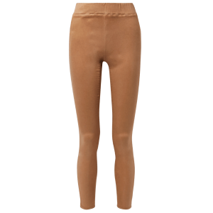 Rochelle coated high-rise skinny jeans in tan