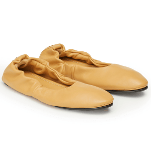 Mira Solid Nappa Ballet Flat in Ginger Root