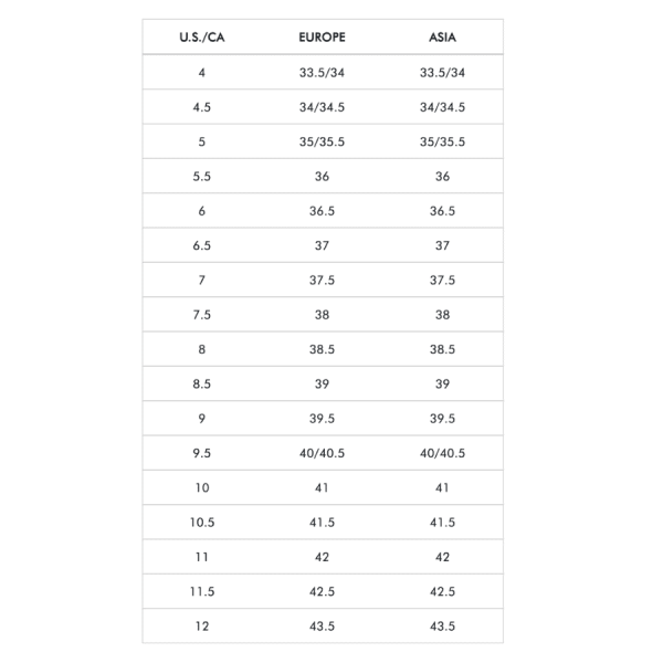 Stuart Weitzman Size Guide