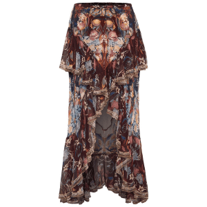 MAXI SKIRT WITH DOUBLE FRILL NOUVEAU NIGHTS