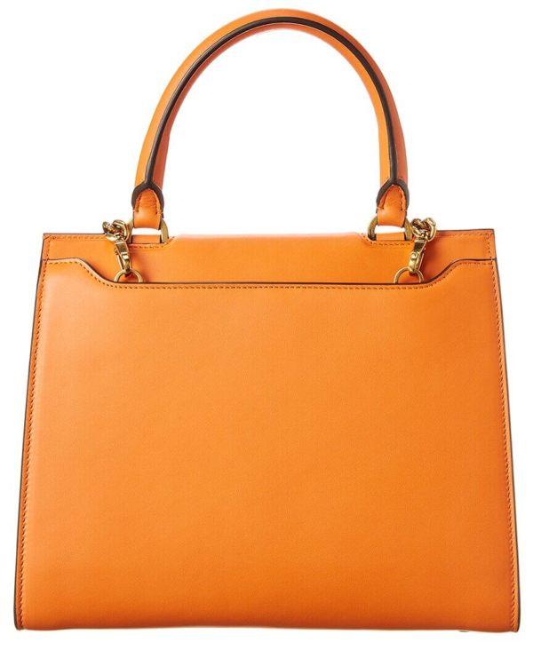 Trifolio Top Handle Bag in Satsuma