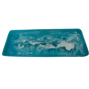 Rectangular Tray Extra Large - Aqua Swirl