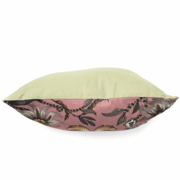 Lovebird Leopards Cotton Magnolia Pillow