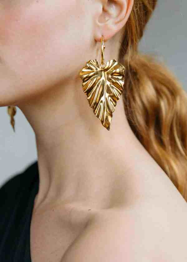 Frond Gold Hoops