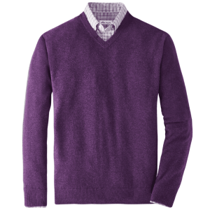 Crown Comfort Cashmere V-Neck in Mulberry