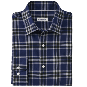 Autumn Soft Plaid Cotton Sport Shirt