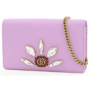 Gucci Pink Embellished GG Marmont WOC Mini