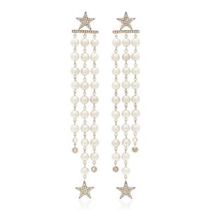 Akoya Pearl Earrings with Stars