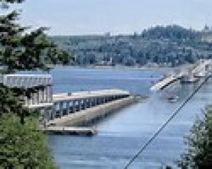 Floating Bridge sunk
