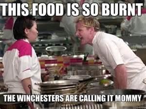 Burnt food