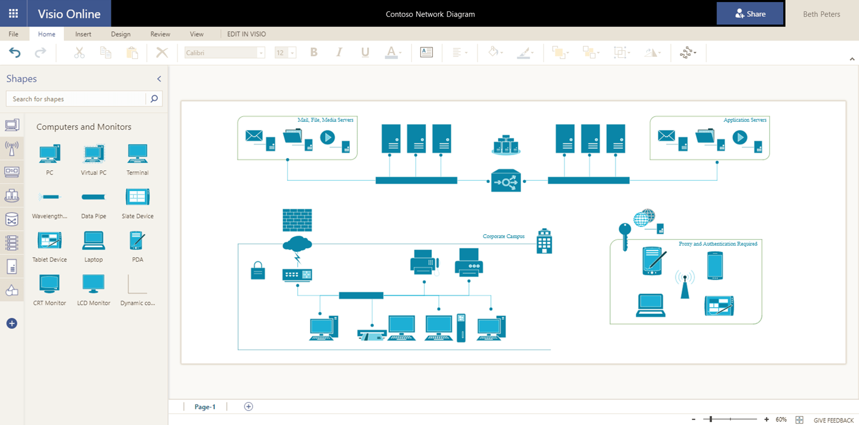 hight resolution of extend diagramming to it with network diagrams in visio