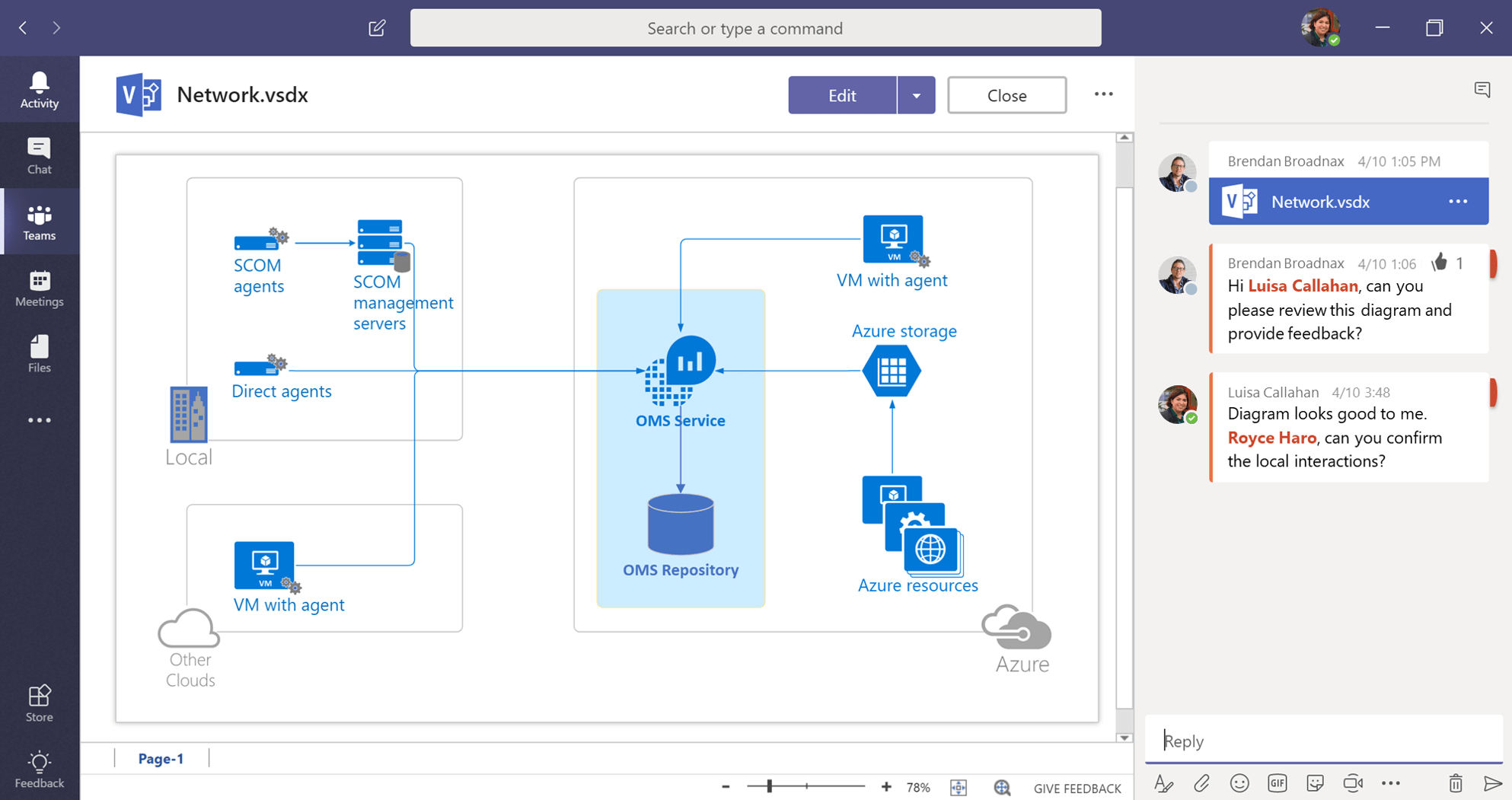 hight resolution of collaborate on visio files inside microsoft teams microsoft tech community 206279