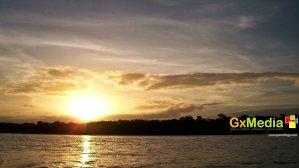 Sweet sunset in the Demerara River