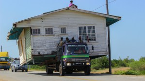 Yes, only in Berbice... must be a norm because we saw two of this in one day....