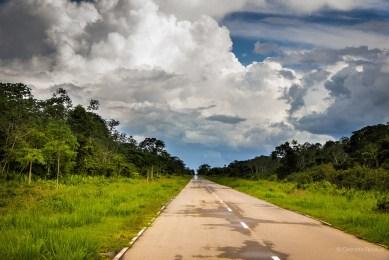 Straight road ahead.