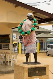De koffie plantages lagen oorspronkelijk in het moerasgebied van Boven Suriname.