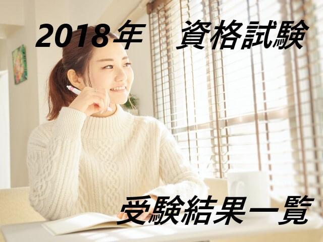 2018年資格試験の受験結果一覧~人生逆転おじさん敗北しまくり~