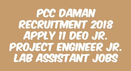 PCC Daman Recruitment