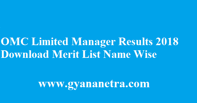 OMC Limited Manager Results 2018