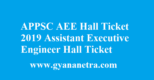 APPSC AEE Hall Ticket