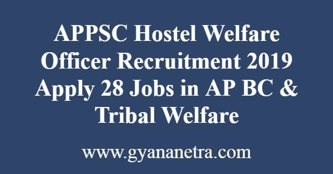 APPSC Hostel Welfare Officer Recruitment