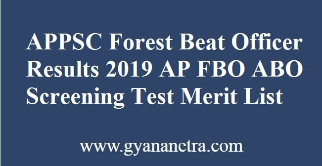 APPSC Forest Beat Officer Results