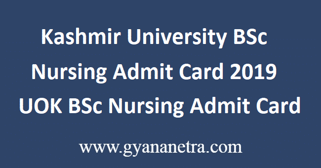 Kashmir-University-BSc-Nursing-Admit-Card