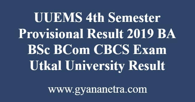 UUEMS 4th Semester Provisional Result