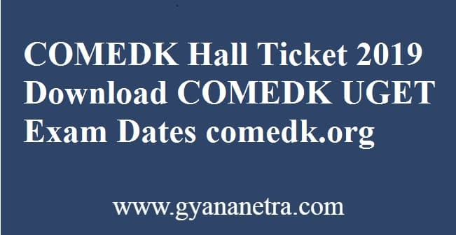 COMEDK Hall Ticket