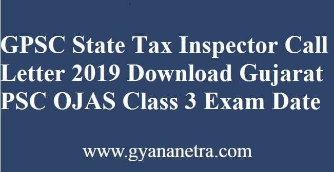 GPSC State Tax Inspector Call Letter