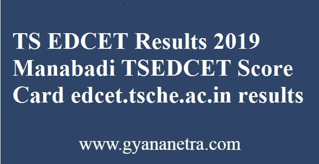 TS EDCET Results 2019