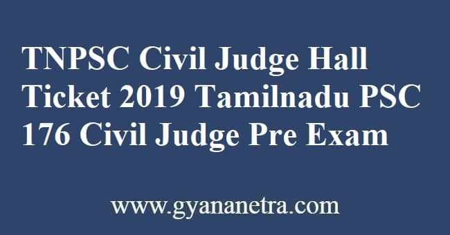 TNPSC Civil Judge Hall Ticket Download